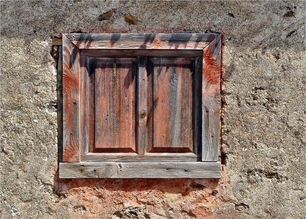 La Palma-Wanderung-Barlovento-Alter Fensterladen
