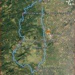 La Palma-Wanderung-Wanderstrecke auf Google Earth-Mazo