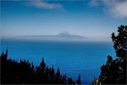 La Palma-Wanderung-Blick Teneriffa