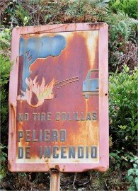 La Palma-Wanderung-Tagoja-Hinweisschild