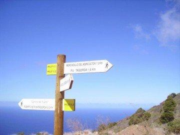 La-Palma-Wanderwege-Wegegabelung