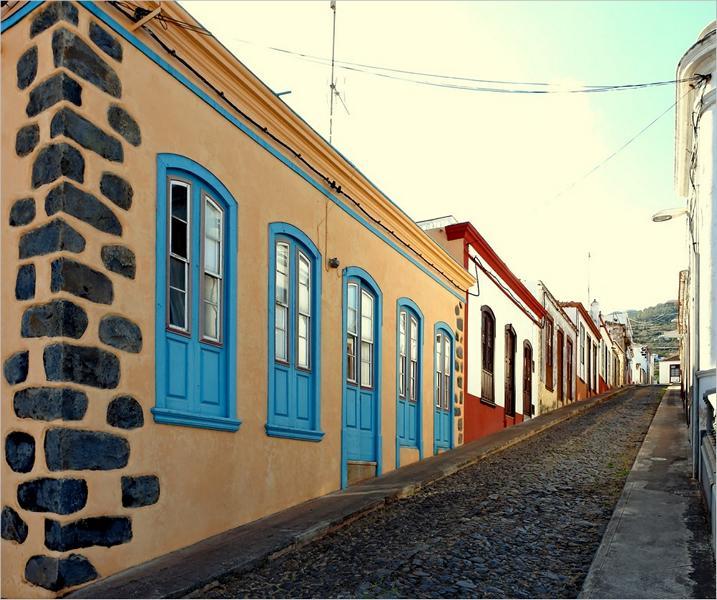 La Palma-Wanderung-Garafia-Dorfstraße