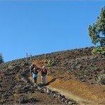 La Palma Wandern-Abzweig Wanderweg SL VM 125 vom GR 131