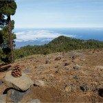 La Palma Wandern-Ausblick zur Montaña Las Tricias