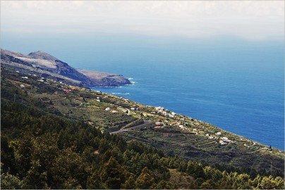 La Palma Wandern-Ausblick am Ziel der Wanderung
