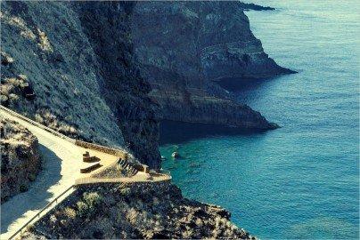 La Palma Wandern-Ausblick auf die Steilküste