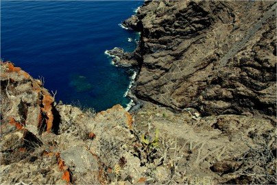 La Palma Wandern-Rückblick vom Mirador Barranco de Jorado auf den Wanderweg