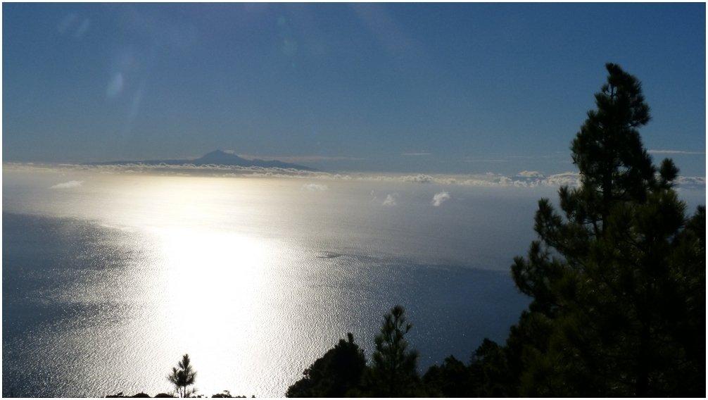 -Ausblick von Monte de Luna nach Teneriffa