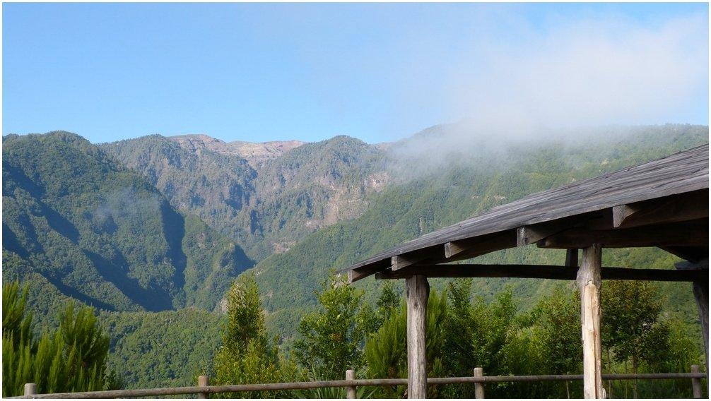 La Palma Wandern,Ausblick vom Mirador La Baranda in de Barranco del Agua