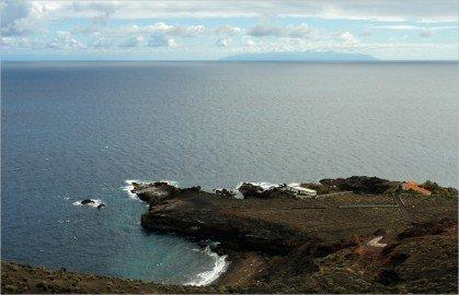 La Palma Wandern-Playa de Pozo-La Gomera im Hintergrund