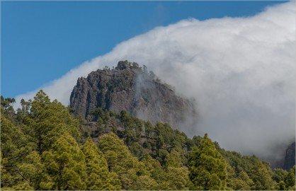 Ausblick Richtung Cumbre Nueva La Palma Wanderung bei El Paso