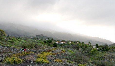 La Palma Todoque Wanderung. Auf dem Wanderweg GR 130