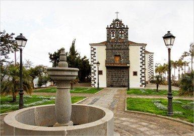 La Palma Wandern Puntallana Kirche