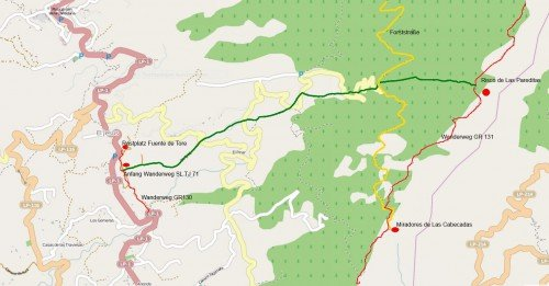 Tijarafe karte Wanderweg SL TJ 71