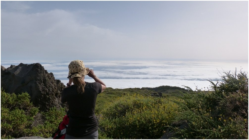 La Palma Wanderungen Ausblick in den Norden vom Pico de La Cruz