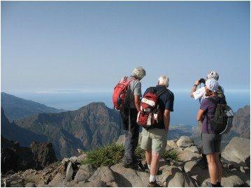 La Palma Wanderungen-Ausblick vom GR 131 in die Caldera