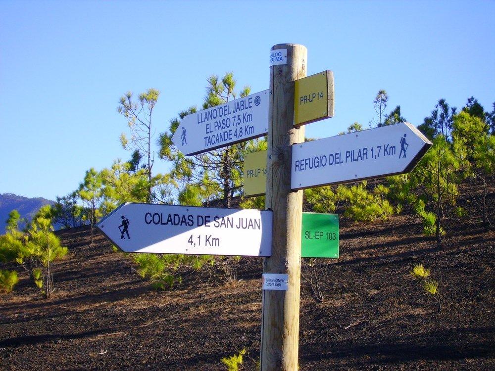La-Palma-Wanderwege-Hier-beginnt-der-Wanderweg-SL-103-auf-der-Hochebene-Llanos-de-Jable