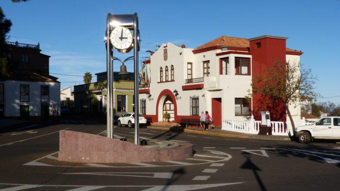 Startplatz der Wanderung am Rathaus in Puntagorda La Palma