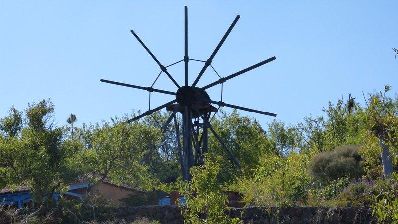 La Palma Wandern,Puntagorda,Reste einer Windmühle,