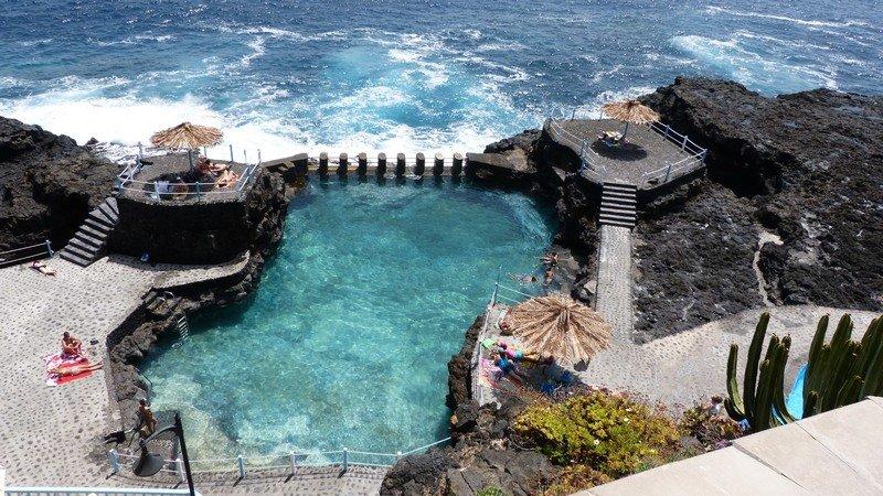La Palma beste Reisezeit,ein Genuß baden Charco Azul,