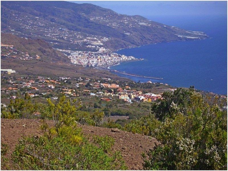 Wanderwege La Palma,Ausblick auf die zurück gelegte Strecke