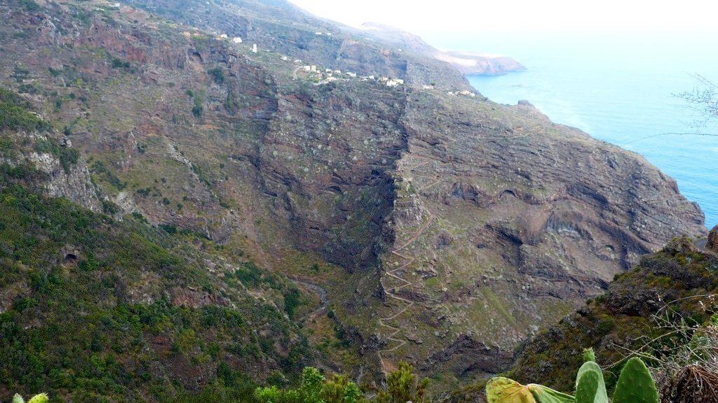 La Palma Wanderungen_Blick in den Barranco de Los Hombres