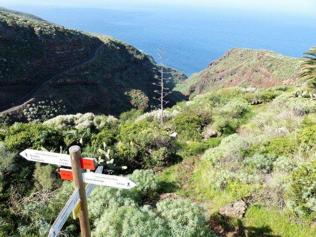 Wandern La Palma_am Eingang zum Barranco Atajo