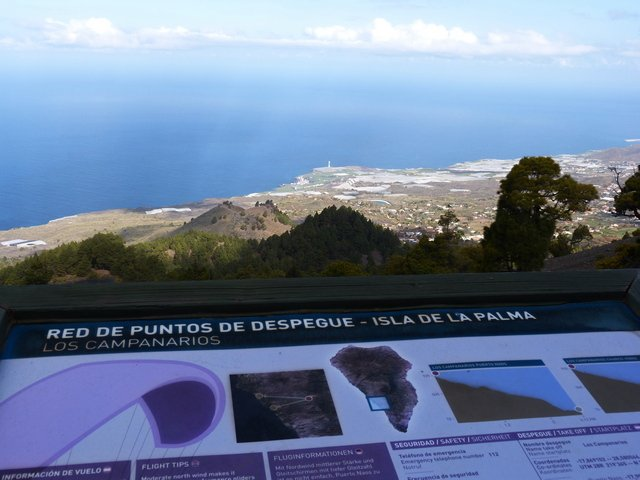La Palma Wandern_Ziel der Startplatz der Gleitschirmflieger