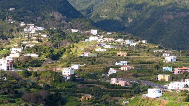 La Palma Wandern La Galga vom Mirador Bartolo aus gesehen