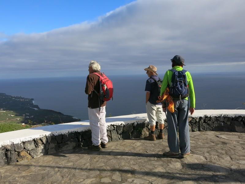 La Palma Wandern der Startplatz mit toller Aussicht Mirado Bartoló