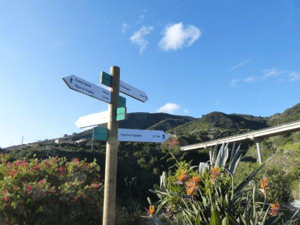La Palma Wandern-auf dem Wanderweg SL LP 24
