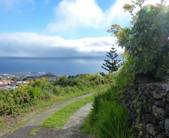La Palma Wandern, Ausblick vom Wanderweg