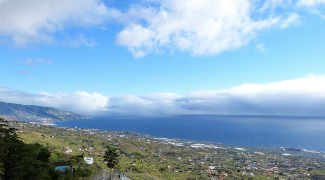 La Palma Wandern , Mazo Rundwanderung Ausblick Santa Cruz