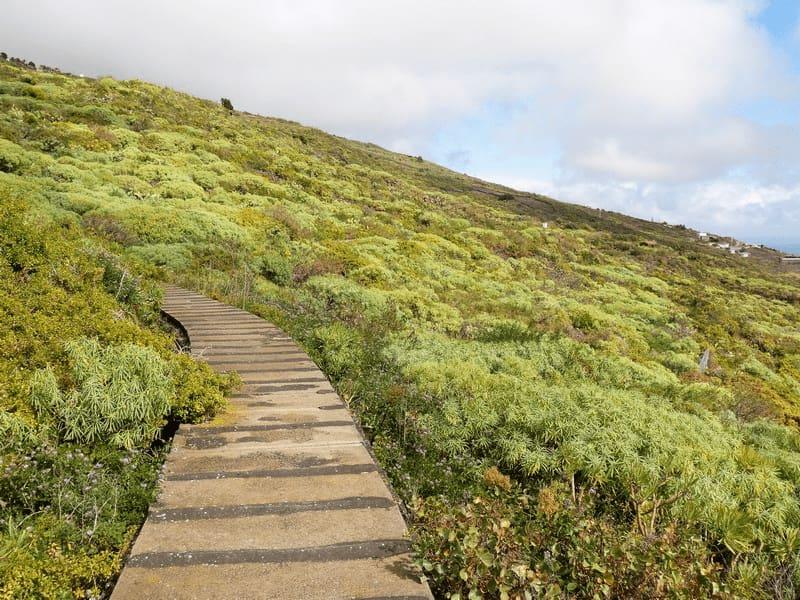 Wandern La Palma, der Wasserkanal ist unser Rückweg