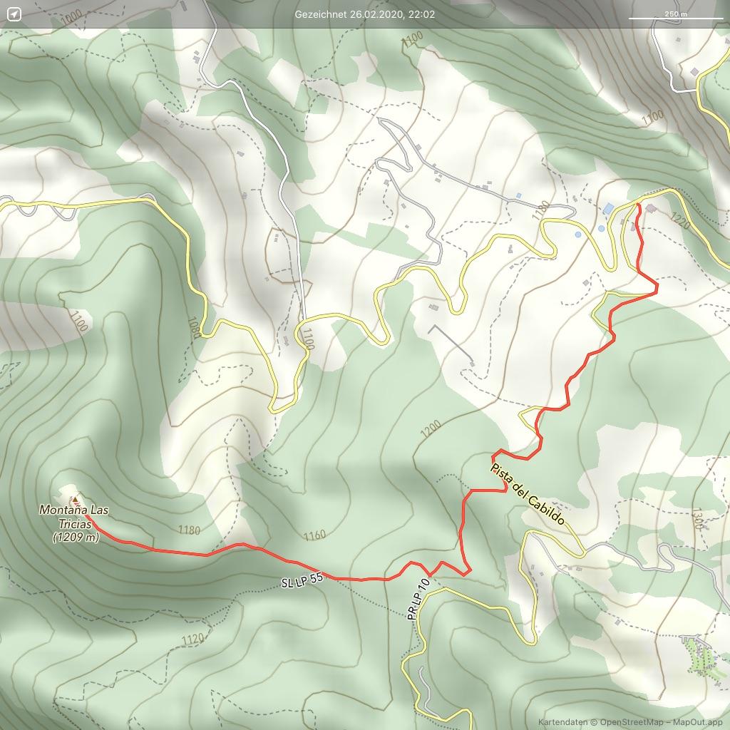 La-Palma-Wandern-Briesta-nach-Tricias Landkart