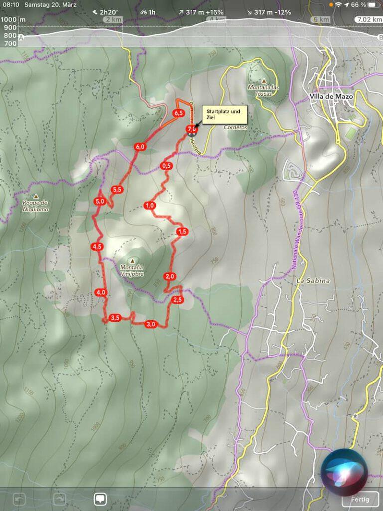 la-palma-wandern-landkarte-startplatz